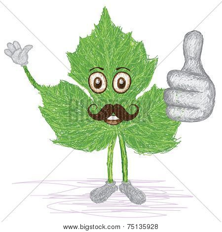 Chaya Leaf Mustache