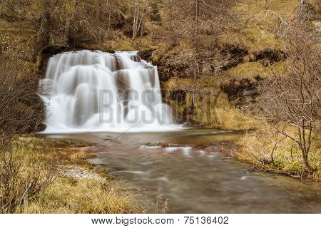 Waterfall In The Forest, Devero Alp