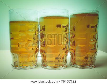 Retro Look Lager Beer