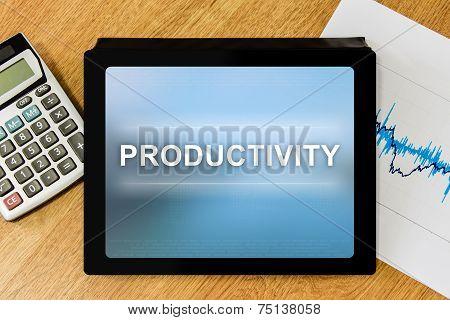 Productivity Word On Digital Tablet