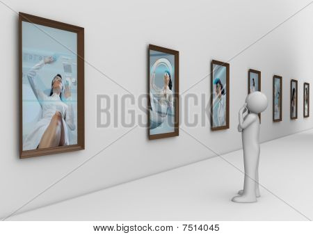 Man In Modern Photo Gallery