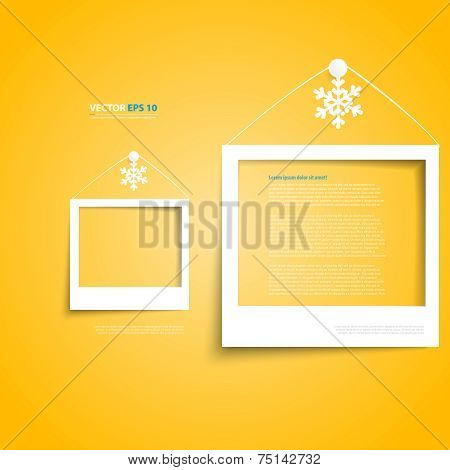 Vector white frames on the wall