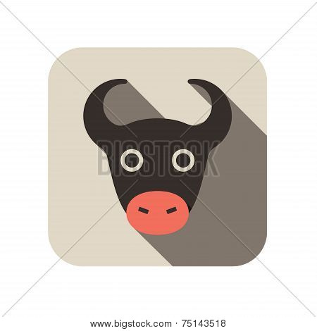 Cow animal flat icon