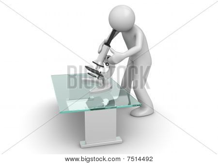 Medical collection - Scientist With Microscope