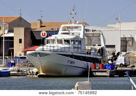 Trawler Docked In The Port Of Le Grau-du-roi