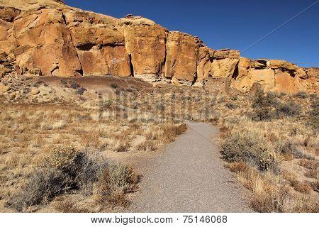 Ruins Trail Chaco Canyon, NM