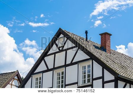 Close-up Of Half-timbered House Gable