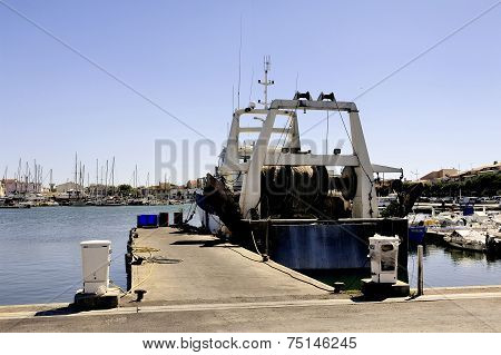 Trawler Docked At The Port Of Le Grau-du-roi