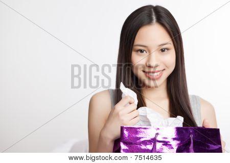 Asian Shopping Girl