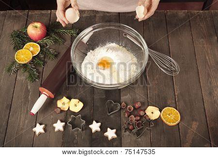 Preparing Dough For Cookies