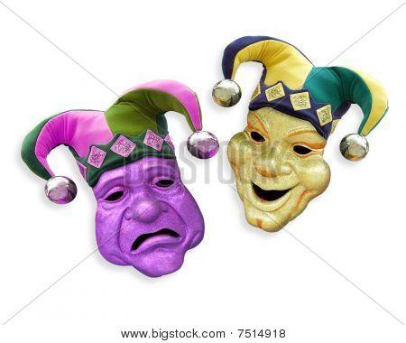 Mardi Gras comedy tragedy masks