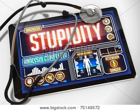 Stupidity on the Display of Medical Tablet.
