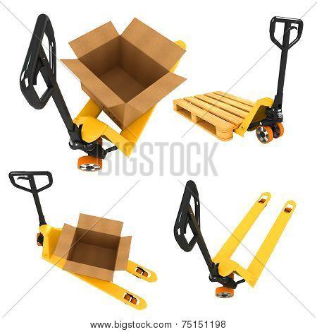 Shipment Concepts - Set of 3D Illustrations.