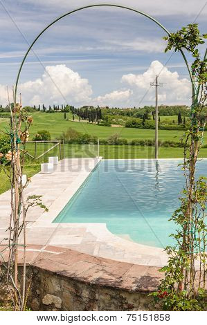 Swimming Pool With Decorative Arch