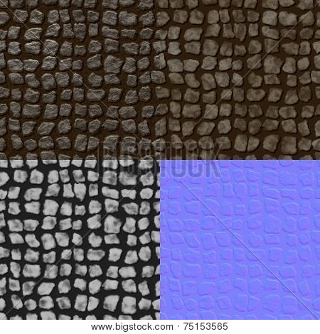 Pavement Seamless Generated Texture (Diffuse, Bump, Normal)