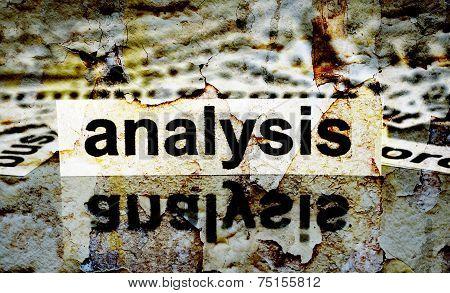 Analysis Grunge Concept