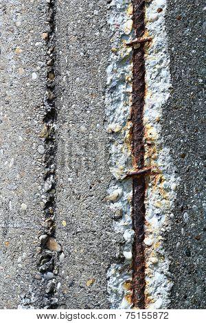 Steel Rebars In Concrete
