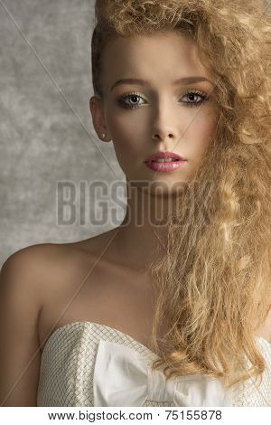 Close-up Of Fashion Girl