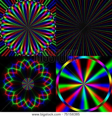 Four bright rainbow emission pattern