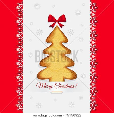 Christmas Cookies In The Shape Of A Tree Vector