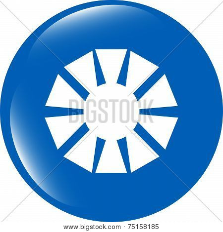 Camera Objective Web Icon (symbol) Isolated On White Background