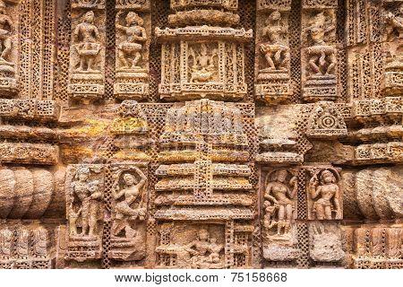 Ancient Oriyan Temple Carvings.