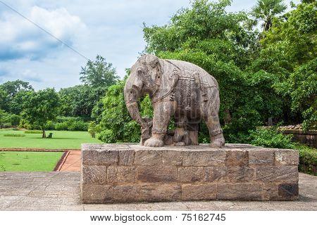 Ancient Granite Elephant