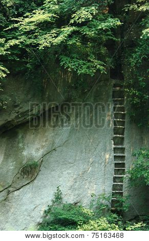 upright stairs in Huangshan park