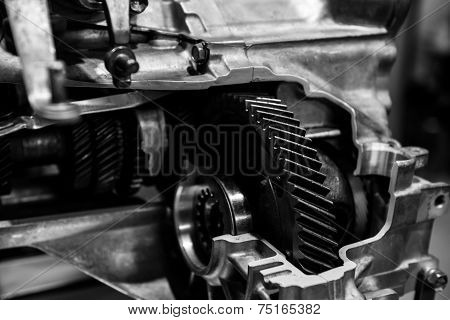 Opened switch gear of a car