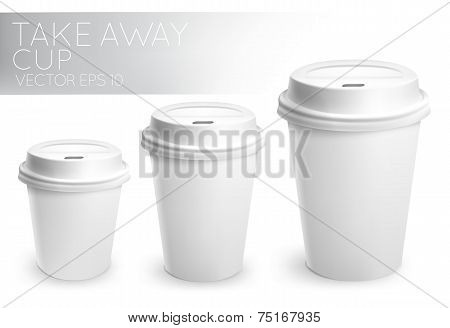 Take away paper cup white