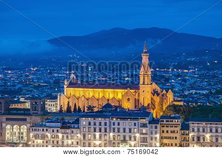 The Basilica Of The Holy Cross In Florence, Italy