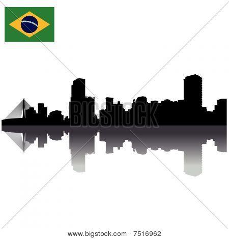 vector Sao Paulo silhouette skyline