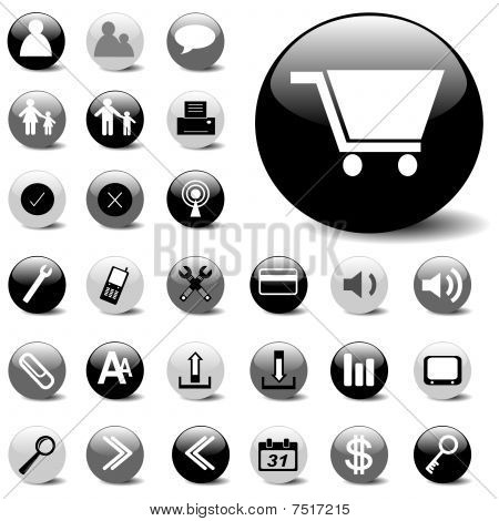 basic vector icon set
