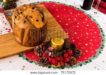 Panettone Italian Typical Christmas Cake