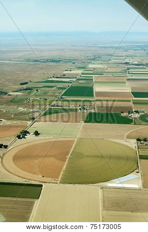 Aerial of cropland - vertical