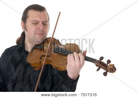 Musician Playing A Viola