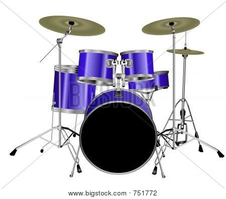 8 Piece Drum Kit - Blue
