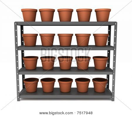Shelf Of Pots
