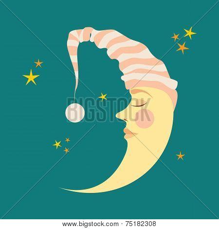 Crescent in the nightcap