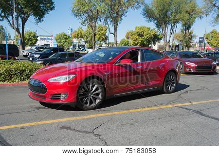 Tesla Model S At The Supercar Sunday Electric Vehicles