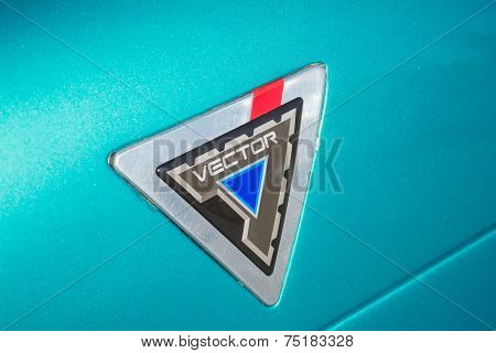 Close-up Vector Avtech Wx-3 Logo At The Supercar Sunday Electric Vehicles
