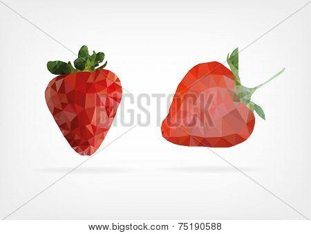 Low Poly Strawberry