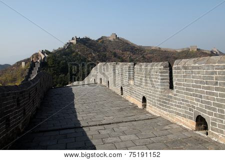 A close-up of the Great Wall