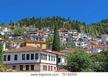 Stone Traditional Houses In Kastoria City (epirus, Greece)