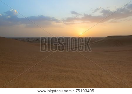 Photo Of Landscape Of A Desert In The United Arab Emirates