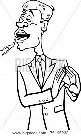 Speaking Forked Tongue Coloring Page