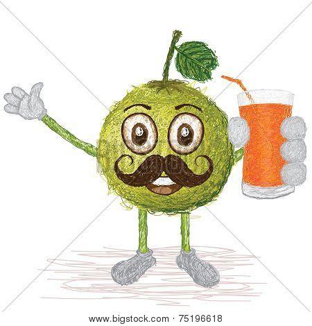 Pomelo Fruit Mustache