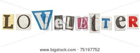 Loveletter, Cutout Newspaper Letters