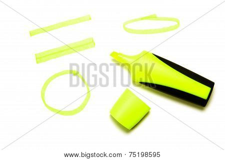 Yellow Felt Tip Marker Pen