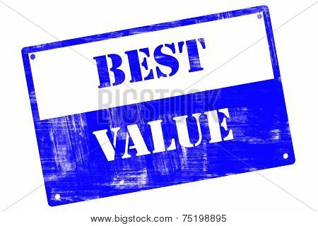 Best Value, Plate, Illustrated With Grunge Textures